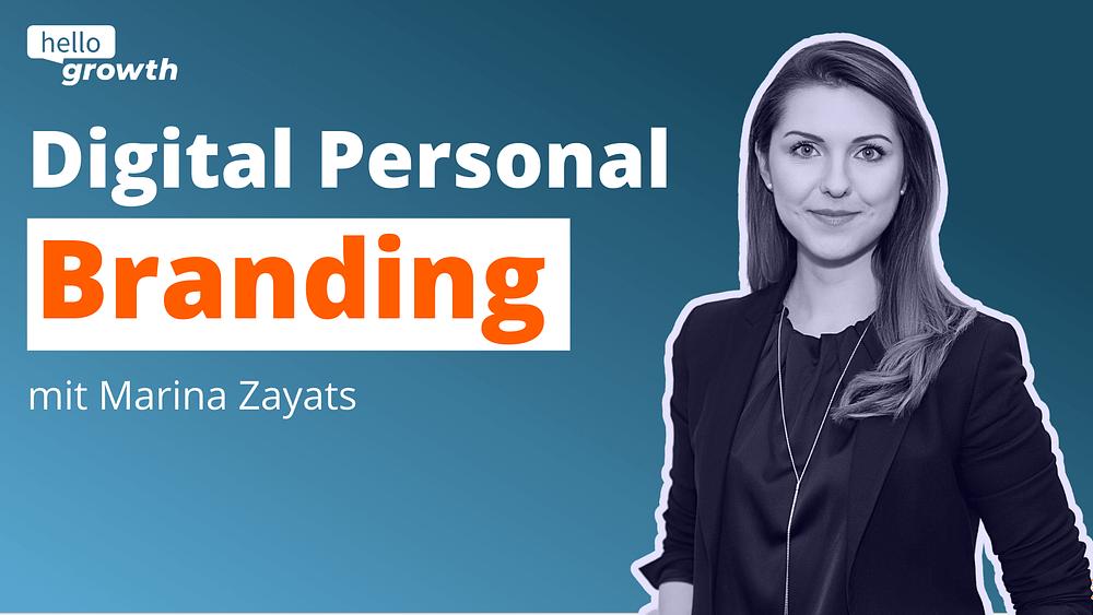 Marina Zayats beantwortet die Frage, was Digital Personal Branding ist