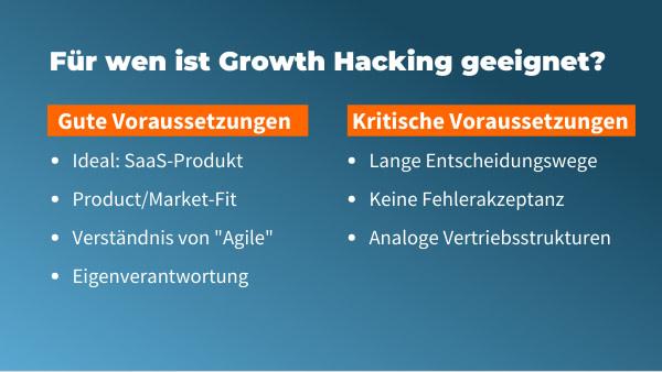 für welche unternehmen ist growth hacking geeignet