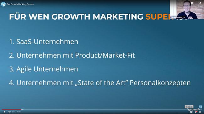 Growth Hacking Meetup - Growth Canvas - Hello Growth - für wen ist Growth Hacking